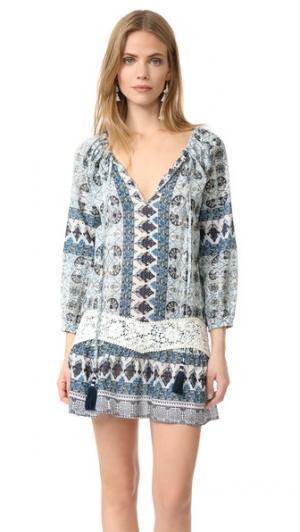 Мини-платье Lima Christophe Sauvat Collection. Цвет: небесно-голубой