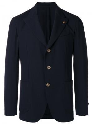 Пиджак с застежкой на три пуговицы Gabriele Pasini. Цвет: чёрный