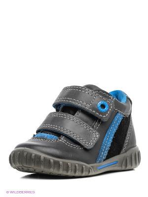 Спортивные ботинки ECCO. Цвет: серый, голубой