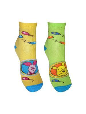 Носки 2 пары Master Socks. Цвет: желтый, зеленый