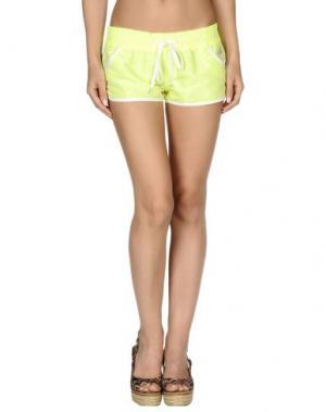 Пляжные брюки и шорты SUNDEK. Цвет: кислотно-зеленый