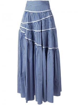 Асимметричная юбка Jourden. Цвет: синий