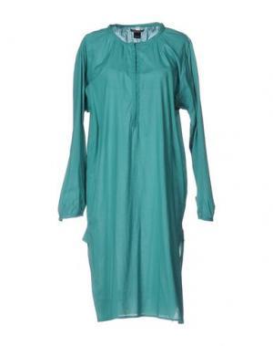 Платье до колена LAURA URBINATI. Цвет: зеленый