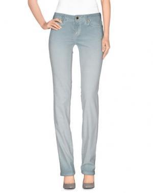 Повседневные брюки JFOUR. Цвет: светло-зеленый