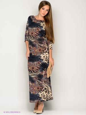 Платье МадаМ Т. Цвет: темно-серый, бежевый