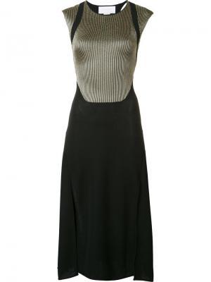Платье в рубчик Esteban Cortazar. Цвет: чёрный