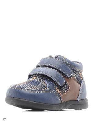 Кроссовки детские V-lux. Цвет: синий, коричневый