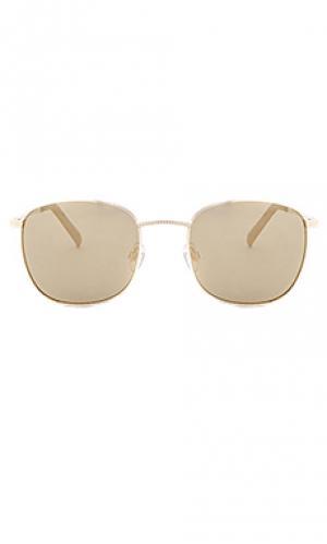 Солнцезащитные очки neptune Le Specs. Цвет: металлический золотой