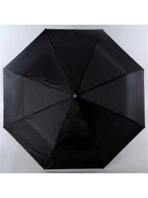 Зонт Torm, Мужской, 3 сложения, Полный Автомат,  Полиэстер Torm. Цвет: черный