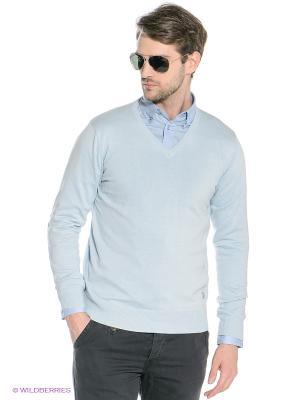 Пуловер Mezaguz. Цвет: голубой