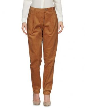 Повседневные брюки WEILI ZHENG. Цвет: коричневый