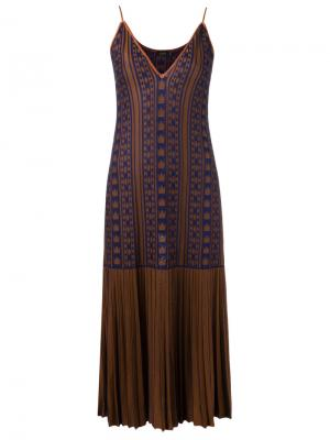 Pattern knit dress Gig. Цвет: коричневый