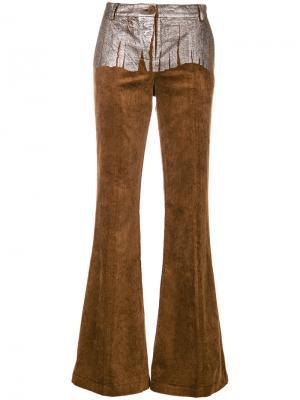 Расклешенные брюки Jane 8pm. Цвет: коричневый