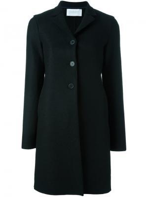Пальто на трех пуговицах Harris Wharf London. Цвет: чёрный
