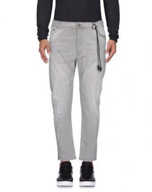 Джинсовые брюки YES LONDON. Цвет: серый