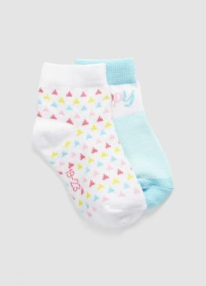 Комплект из 2 пар носков для девочек OSTIN. Цвет: светло-бирюзовый