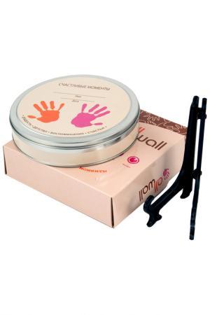 Фоторамка со слепком Baby Art Русские подарки. Цвет: серый, розовый