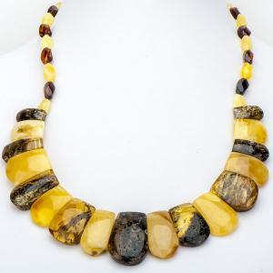 Бусы Тутанхамон янтарь арт. НЯН-п748 Бусики-Колечки. Цвет: желтый