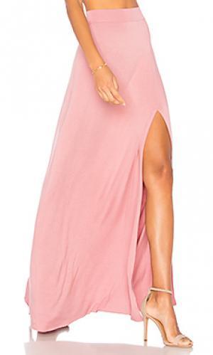 Юбка с высоким разрезом sarah Clayton. Цвет: розовый