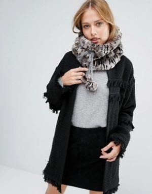 Alice Hannah Меховой шарф-снуд Sporty. Цвет: коричневый