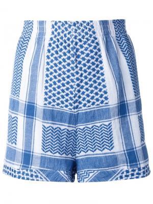 Жаккардовые шорты Cecilie Copenhagen. Цвет: синий