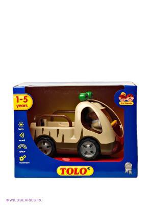 Машинка с фигуркой Джип-Сафари Tolo Toys. Цвет: бежевый (осн.)