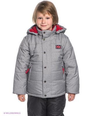 Куртка PlayToday. Цвет: серый, красный
