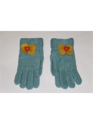 Перчатки Cascatto. Цвет: бирюзовый