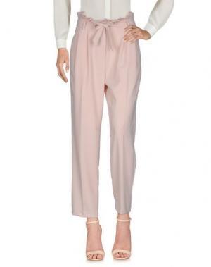 Повседневные брюки VICOLO. Цвет: светло-розовый