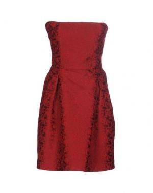 Короткое платье HANITA. Цвет: кирпично-красный