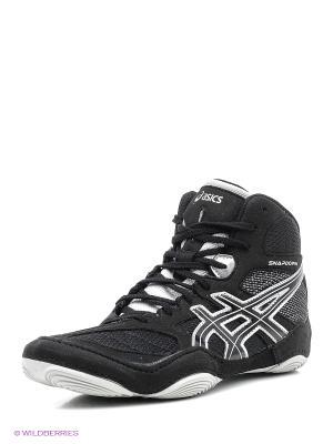 Специализированная обувь для борьбы SNAPDOWN ASICS. Цвет: черный, салатовый, серебристый