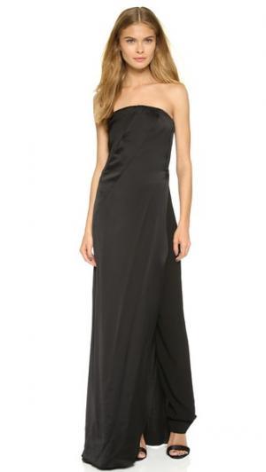Вечернее платье без бретелек с брюками Donna Karan New York. Цвет: голубой