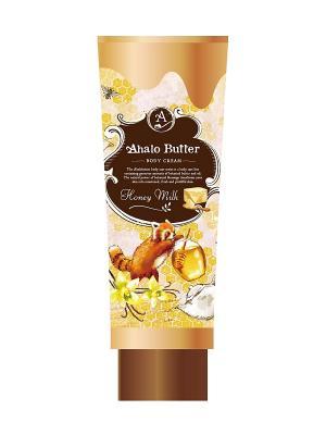 Тающий крем для тела с тропическими маслами, медом и молоком AHALO BUTTER. Цвет: золотистый