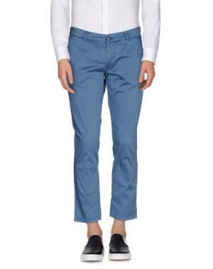 Повседневные брюки ALESSANDRO DELL'ACQUA. Цвет: грифельно-синий