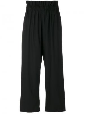 Широкие брюки с эластичным поясом Federica Tosi. Цвет: чёрный