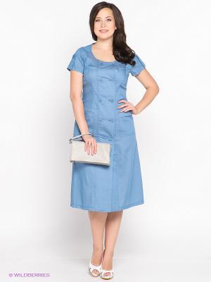 Платье D`imma. Цвет: голубой