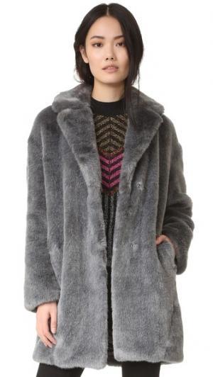 Пальто-кокон Whistles. Цвет: голубой