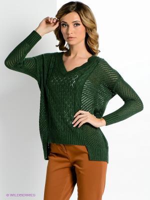 Пуловер ZARINA. Цвет: зеленый