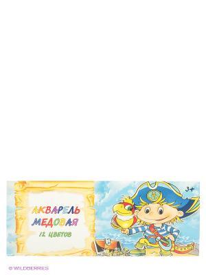 Акварель медовая Мальчик-пират 12 цветов Centrum. Цвет: голубой