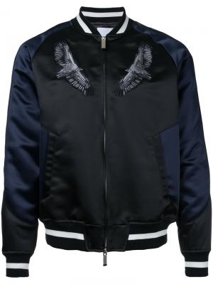 Куртка-бомбер с вышивкой орла Yoshio Kubo. Цвет: чёрный