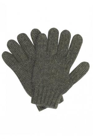 Кашемировые перчатки цвета хаки Bonpoint. Цвет: зеленый
