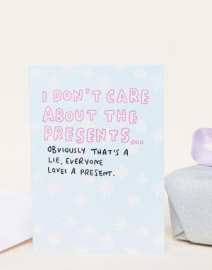 Veronica Dearly Новогодняя открытка Everyone Loves A Present. Цвет: мульти