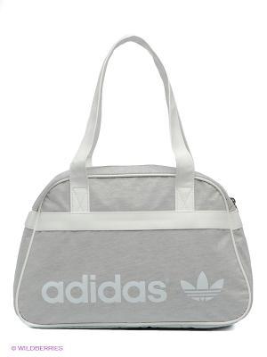 Сумка AC BOWLING FT Adidas. Цвет: серый, белый