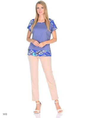 Блузка HomeLike. Цвет: синий, серый, сиреневый