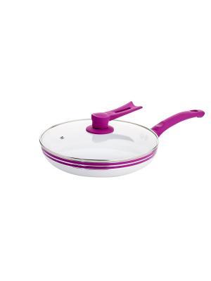 Сковорода с крышкой Elff Ceramics. Цвет: белый, фиолетовый