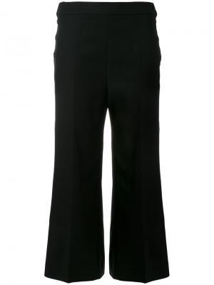 Укороченные широкие брюки Sportmax. Цвет: чёрный