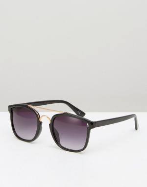 Jeepers Peepers Круглые солнцезащитные очки. Цвет: черный