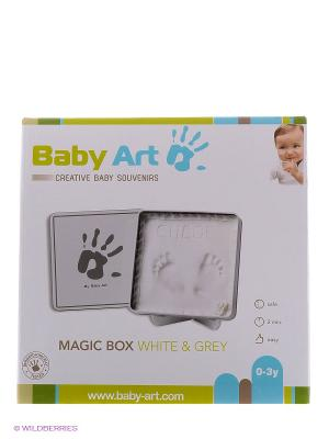 Коробочка с отпечатком Мэджик Бокс Baby Art. Цвет: белый