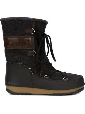 Ботинки на шнуровке Vienna Moon Boot. Цвет: чёрный