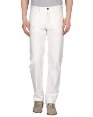 Повседневные брюки LUIGI BIANCHI MANTOVA. Цвет: белый
